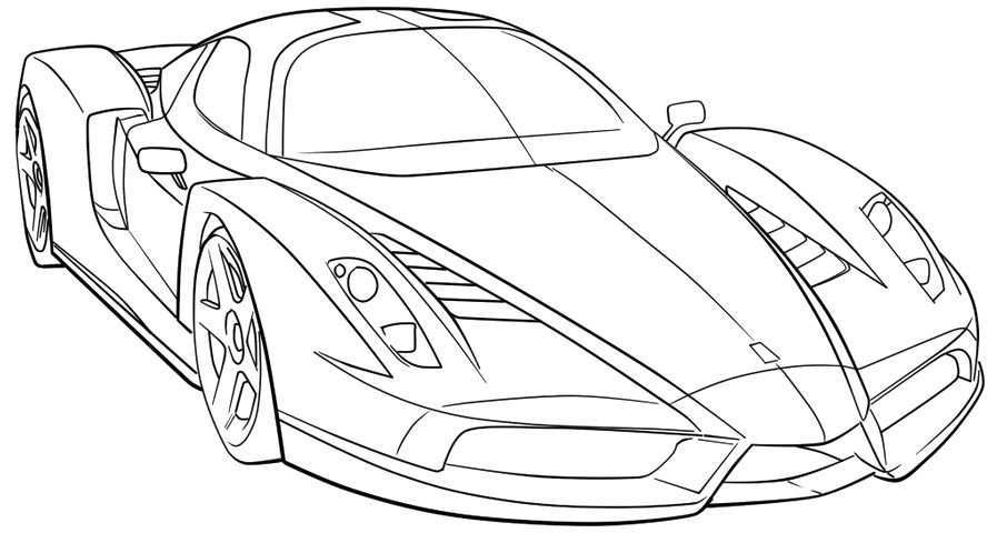 Ferrari Sport Car High Speed Coloring Page Ferrari Car Coloring Pages Sports Coloring Pages Cars Coloring Pages Race Car Coloring Pages