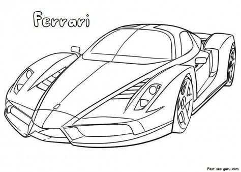 Printable Ferrari Coloring Pages Printable Coloring Pages For Activities Worksheets Coloringpages Cars Coloring Pages Race Car Coloring Pages Car Colors