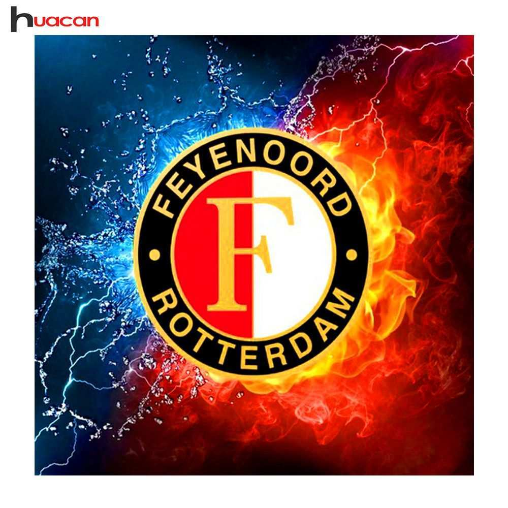 Diamant Borduurwerk Feyenoord Logo Serie Diy Mozaiek Diamant Schilderen Kruissteek Hars Home Decor Art Handwerk 5d Cross Paintings Mosaic Diy Hand Work Design