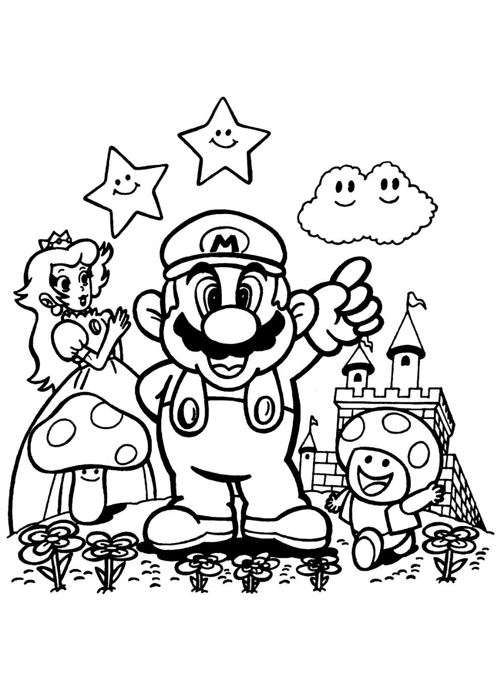Kleurplaten Paradijs Kleurplaat Prinses Paddestoel En Mario Kleurplaten Kleurplaten Voor Kinderen Mario