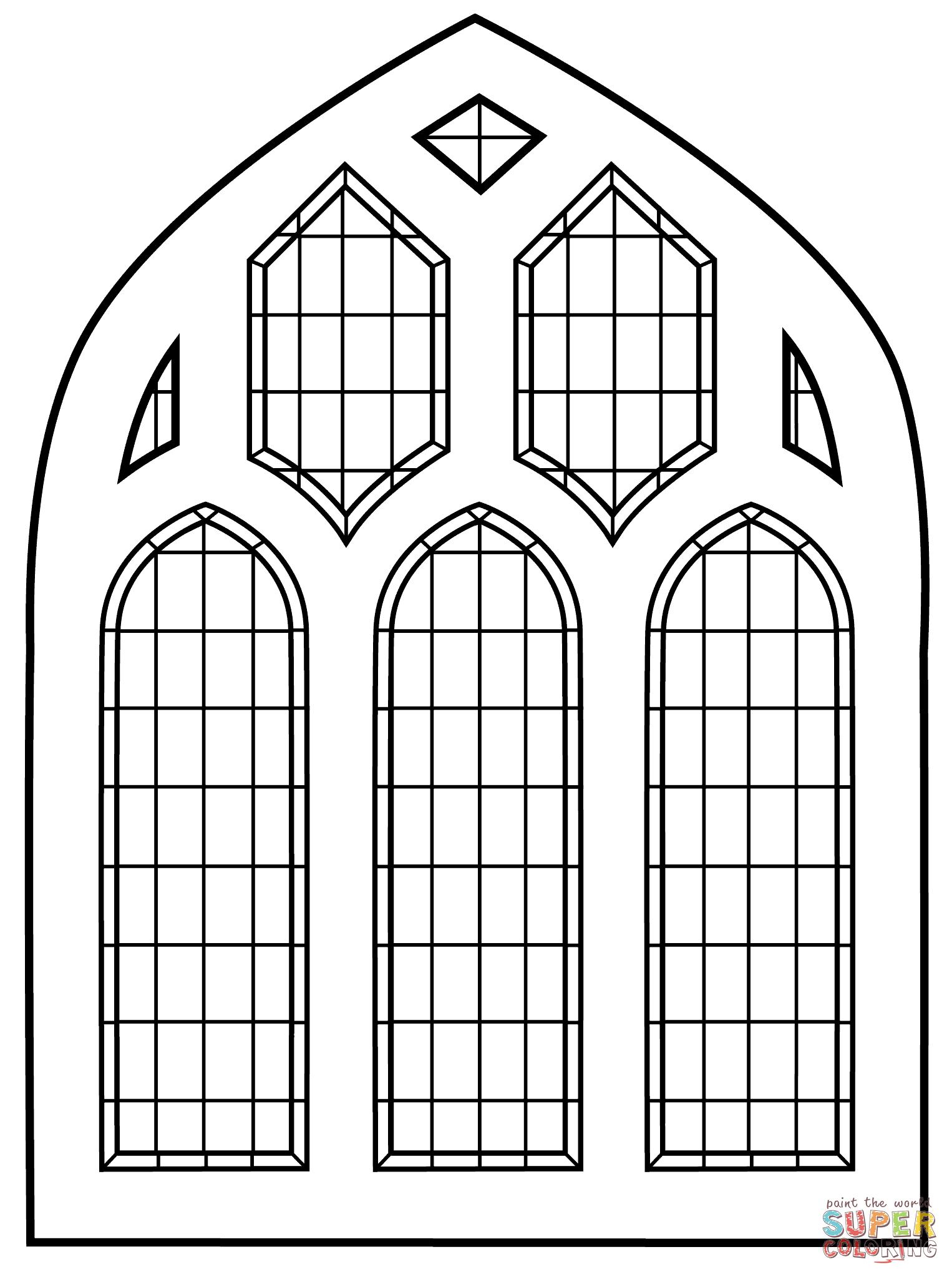 Stained Glass Window Gratis Kleurplaten Mandala Kleurplaten Kleurplaten