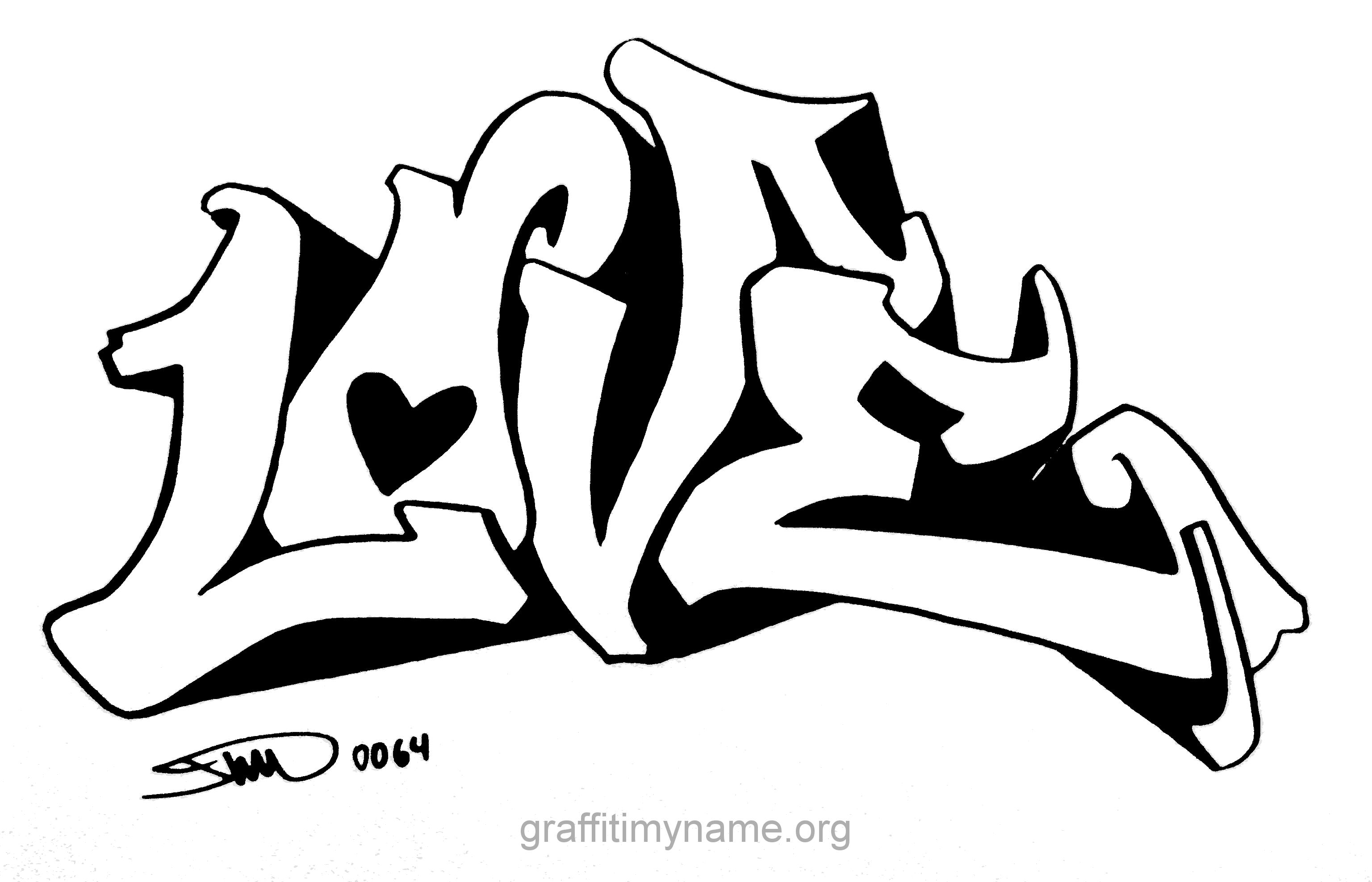 Love Drawings Google Search Easy Graffiti Drawings Word Drawings Easy Graffiti
