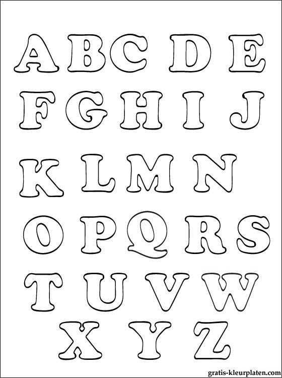 Alfabet Kleurplaten Gratis Kleurplaten Alfabet Kleurplaten Alfabet Alfabet Sjablonen