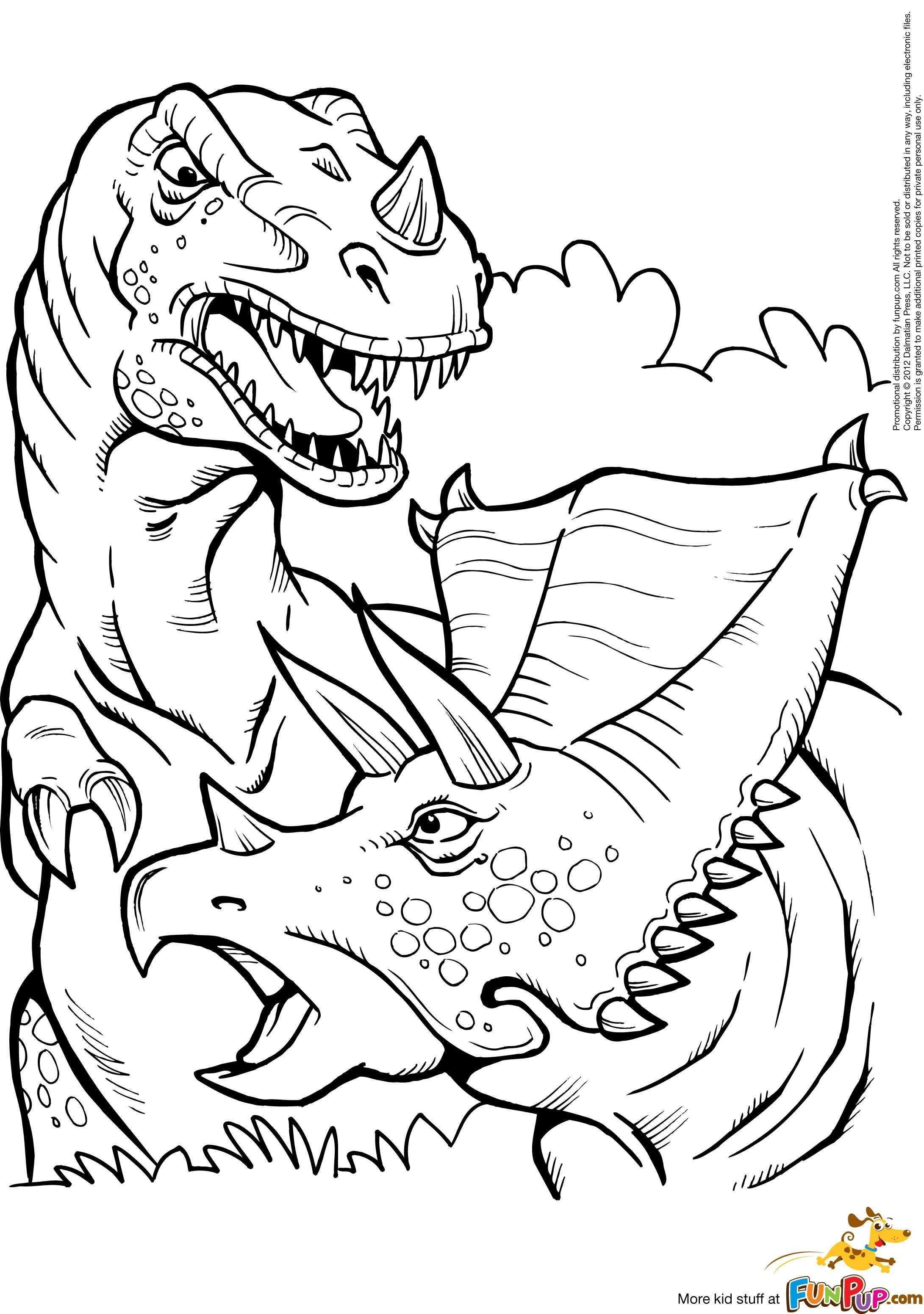 T Rex And Triceratops 0 00 Kleurplaten Kinderkleurplaten Kleurboek