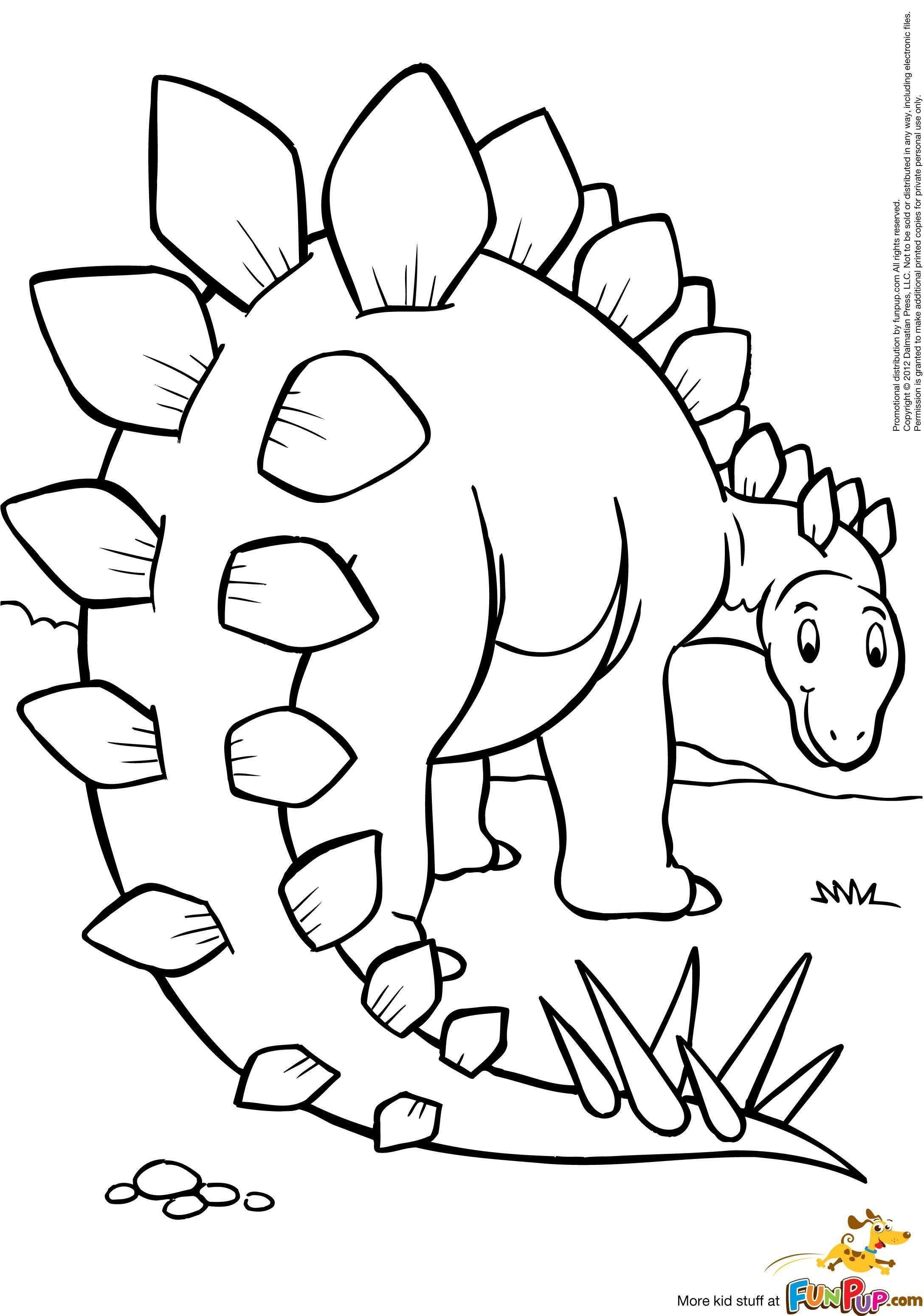 Stegosaurus 0 00 Dinosaurus Thema Kleurplaten