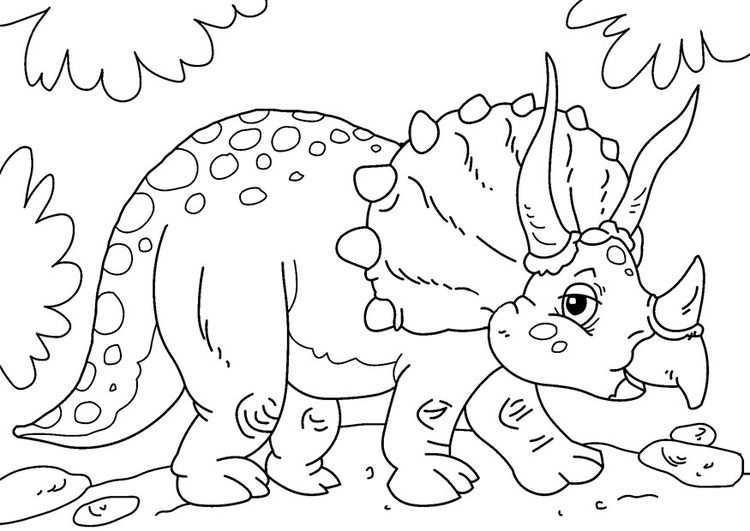 Coloring Page Dinosaur Triceratops Img 27739 Dinosaurus Gratis Kleurplaten Dieren Kleurplaten