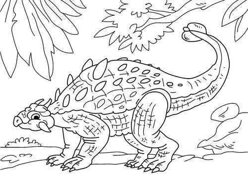 Kleurplaat Dinosaurus Ankylosaurus Afb 27630 Kleurplaten Dinosaurus Gratis Kleurplaten