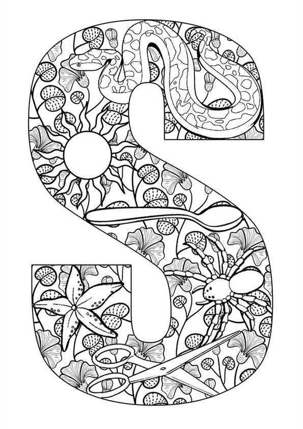 Kleurplaat Volwassenen Letters Gratis Printen En Downloaden Coloring Page Adults Free Printable And Alfabet Kleurplaten Mandala Kleurplaten Kleurplaten