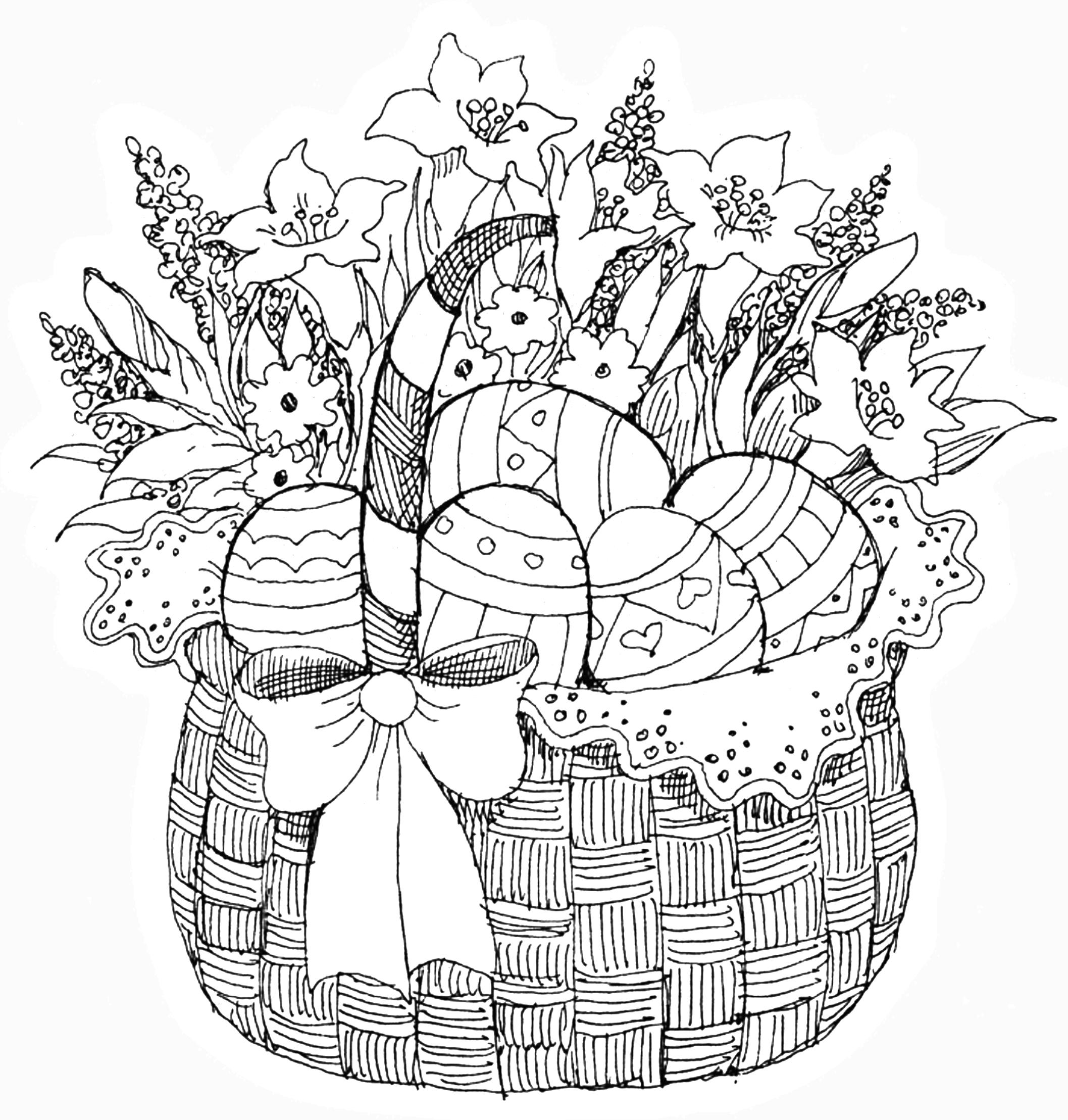 Pb Easter Basket Kleurplaten Gratis Kleurplaten Kleurboek
