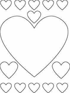 Kleurplaat Hartjes Valentijn Knutselen Volwassenen Hart Sjabloon Valentijn Knutselen Peuters