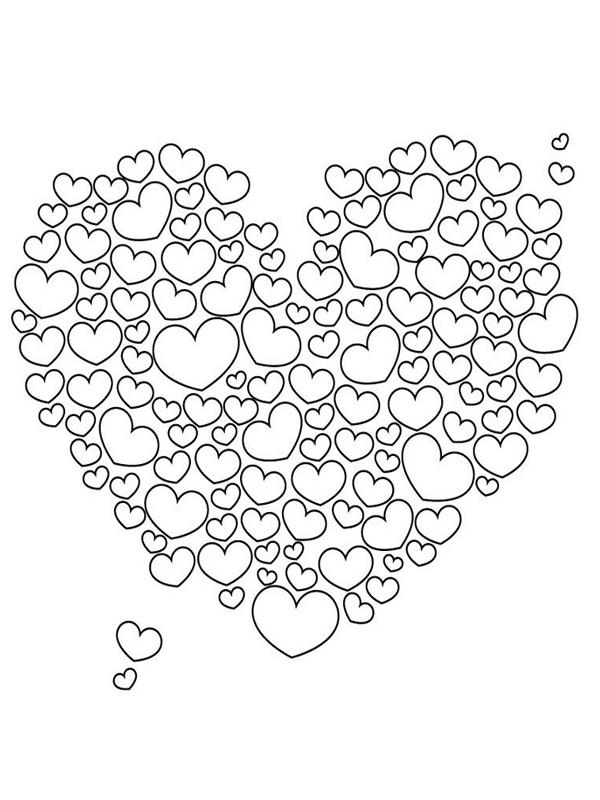 Kleurplaat Hart Valentijn Moederdag Vaderdag Kleurboek Gratis Kleurplaten Knutselen Moederdag En Vaderdag