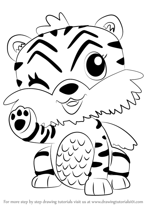 Learn How To Draw Tigrette From Hatchimals Hatchimals Step By Step Drawing Tutorials Unicorn Coloring Pages Penguin Coloring Pages Coloring Pages For Kids
