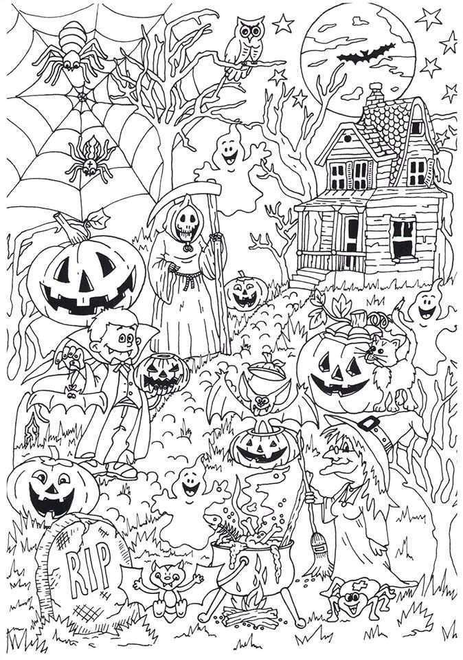 Lekker Griezelen Tijdens Het Kleuren Van Deze Halloween Kleurplaat Van Noagecolouring Suuz Halloween Coloring Sheets Halloween Coloring Book Coloring Books