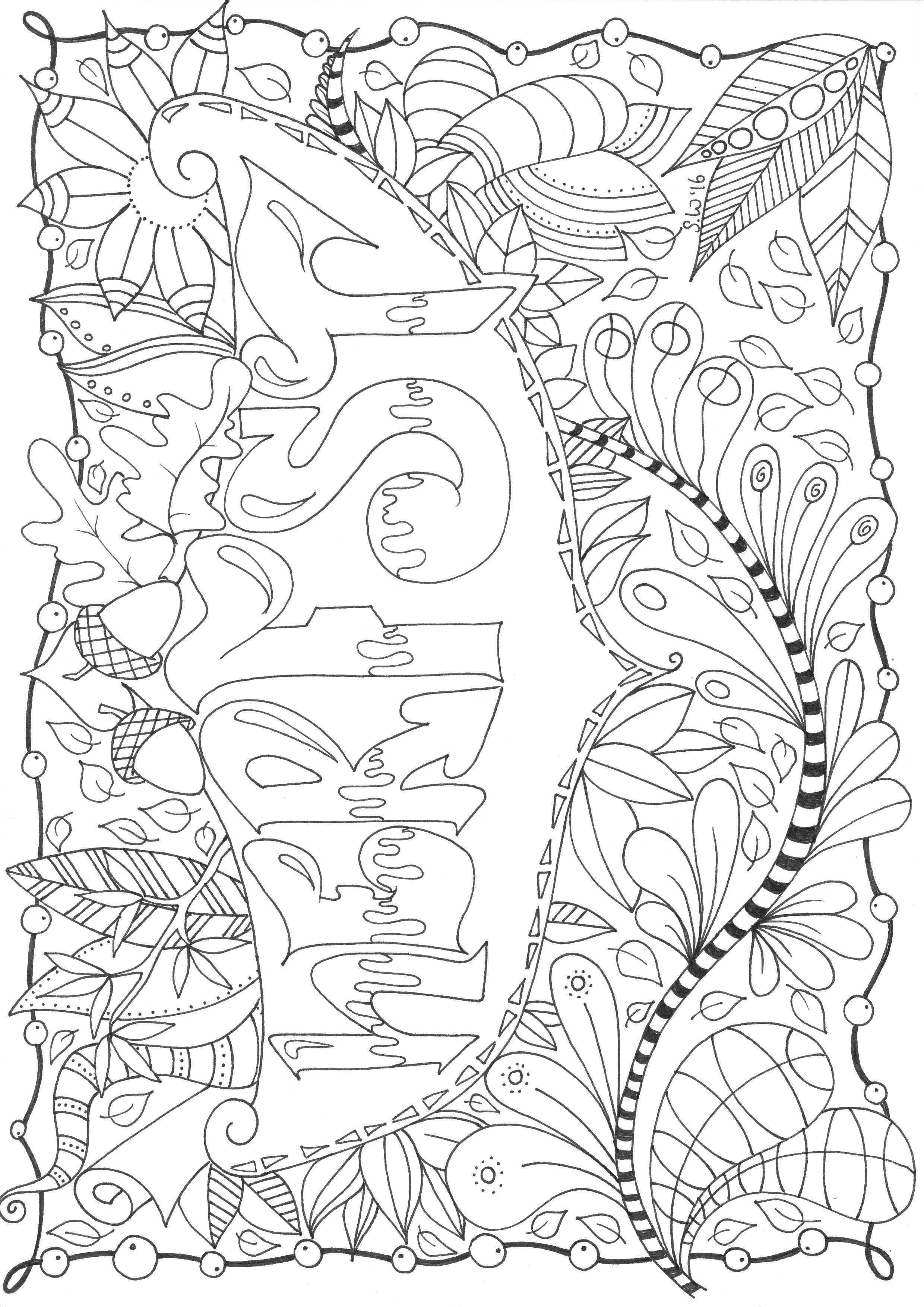 Herfst Autumn Doodle Zentangle Zentangle Kleurplaten Kleurplaten Voor Volwassenen