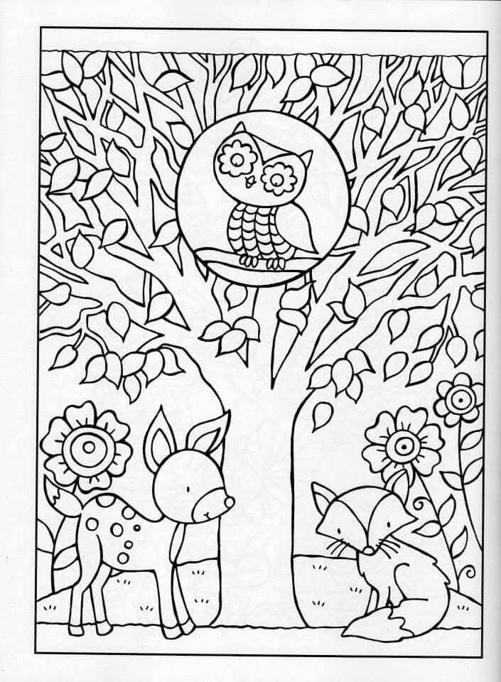 Coloring For Adults Kleuren Voor Volwassenen Kleurboek Herfst Bomen Kleurplaten