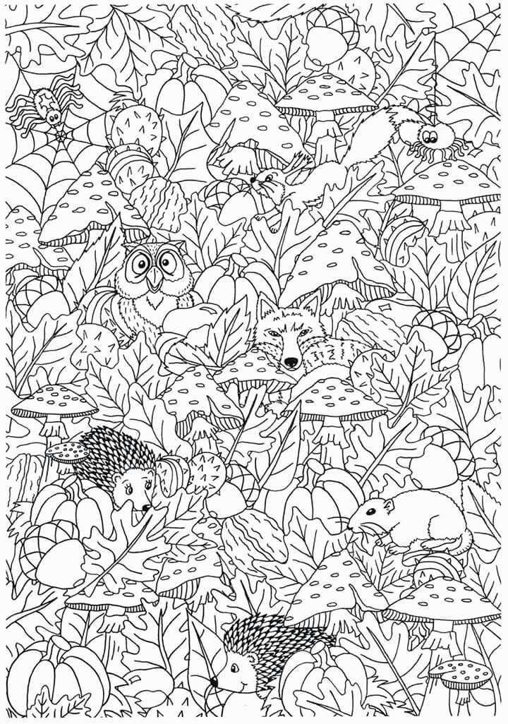 Herfst Mandala Kleurplaten Gratis Kleurplaten Herfst Knutselen Kinderen