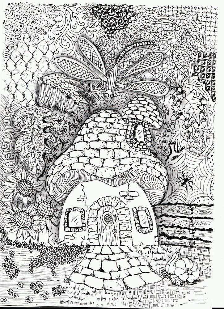Efie Goes Zentangle Art Tangle Club 95 Herfst Zentangle Patronen Kleurrijke Tekeningen Kleurboek