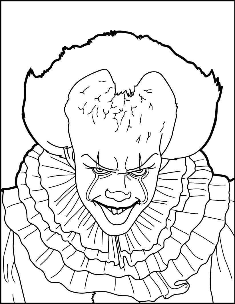 Pennywise The Clown Coloring Pages Free Http Www Wallpaperartdesignhd Us Pennywise Th