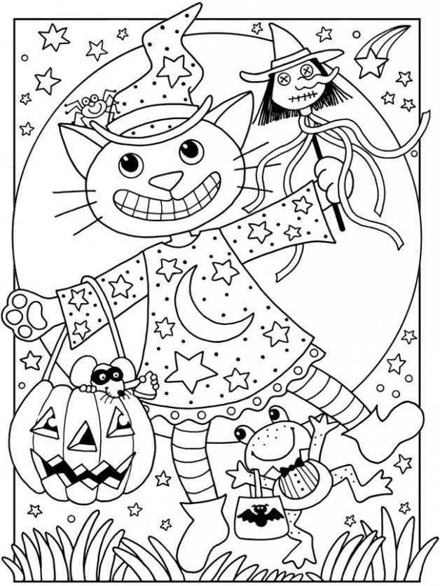 Kleurplaten Horror 6 Topkleurplaat Nl Halloween Coloring Book Halloween Coloring Cute