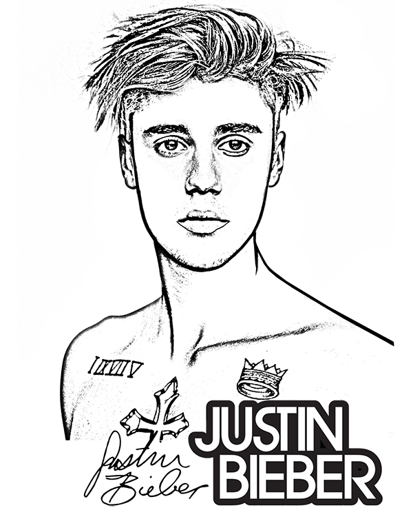 A Free Coloring Page With World S Top Celebrities Including Justin Bieber Justinbieber Bieber Singer Co People Coloring Pages Justin Bieber Coloring Pages