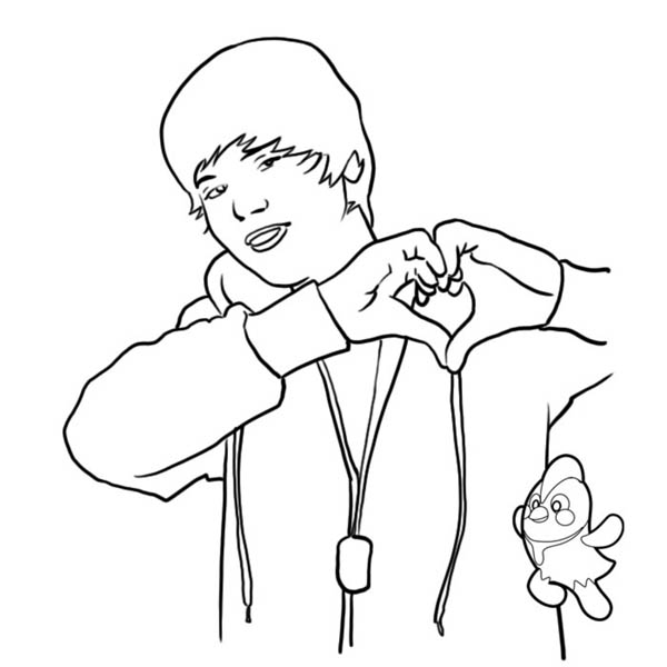 Justin Bieber Love Gesture Coloring Page Netart Coloring Pages Coloring Pictures People Coloring Pages