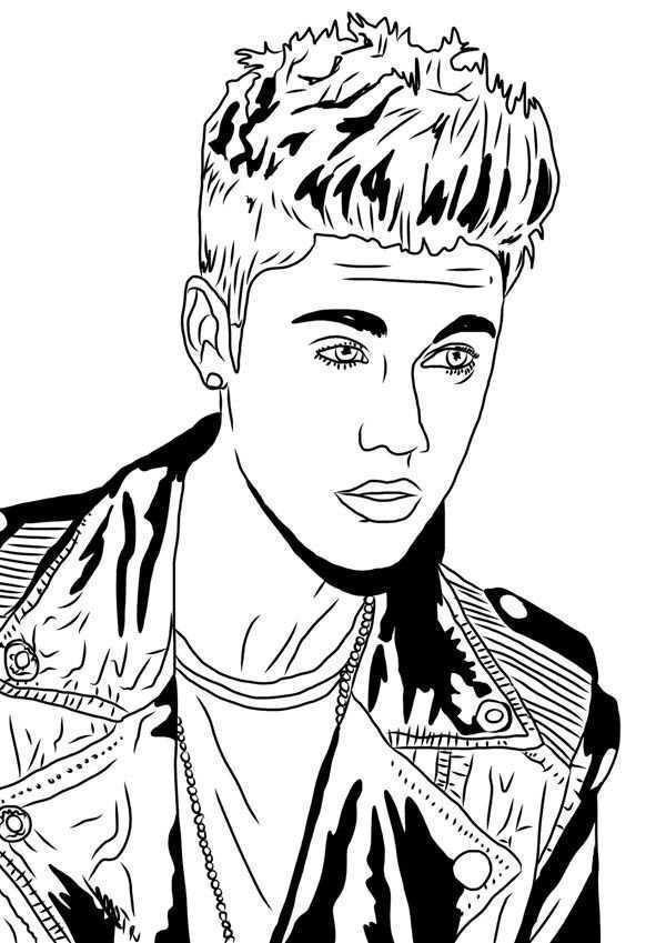 Justin Bieber Under The Mistletoe Coloring Page Netart Justin Bieber Sketch Justin Bieber Pictures Justin Bieber