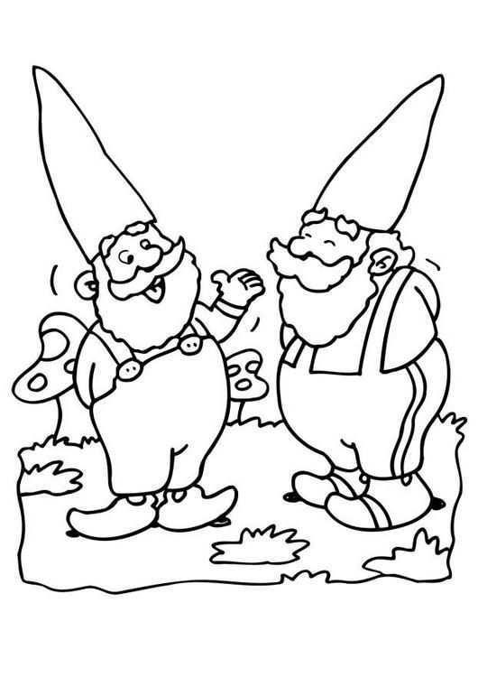 Pin Van Wendy Van Tiel Op Gnomes Kabouter Kleurboek Kleurplaten