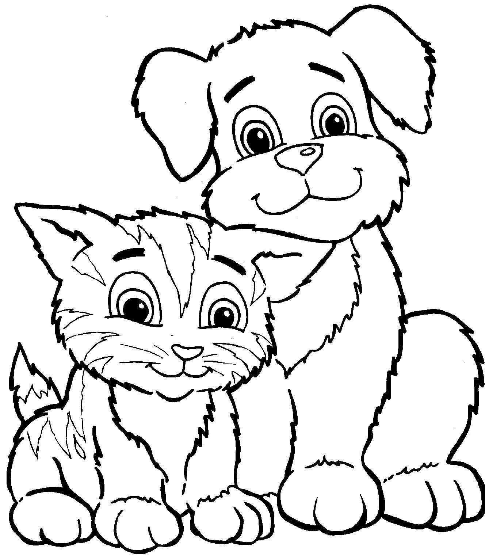 Kittens En Puppies Kleurplaten