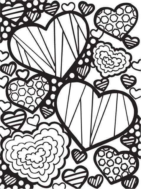 Pin Van Daniellegravel Op Coloring Heart Love Lijntekeningen Kleurplaten Kleurplaten Voor Volwassenen