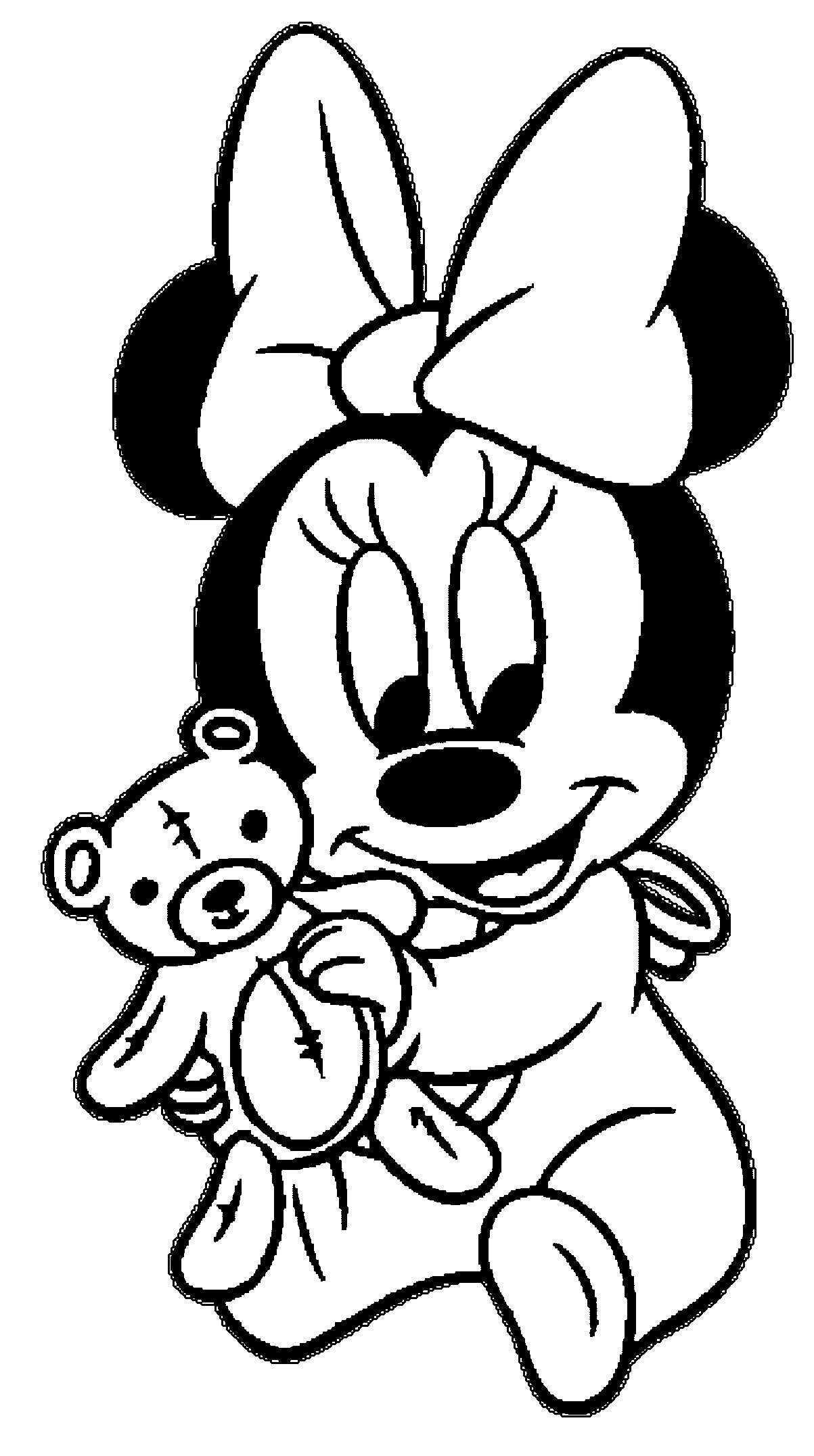 Minnie Baby Coloring Pages 2 By Sean Tekeningen Disney Figuren Cartoon Tekeningen Disney Kleurplaten