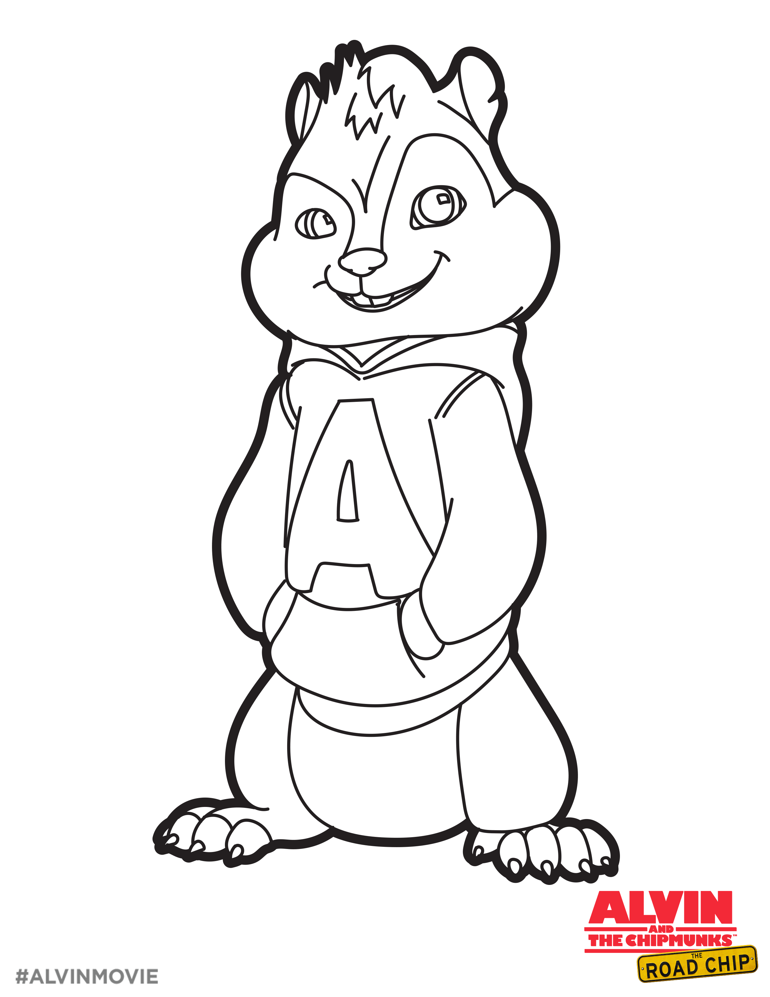 Free Alvin Coloring Printable Perfect For A Road Trip Alvin And The Chipmunks The Road Cartoon Coloring Pages Disney Princess Colors Alvin And The Chipmunks