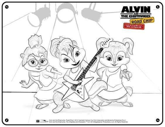 Alvin And The Chipmunks Free Chipettes Printable Coloring Page Mama Likes This Alvin And The Chipmunks Chipmunks Disney Coloring Pages