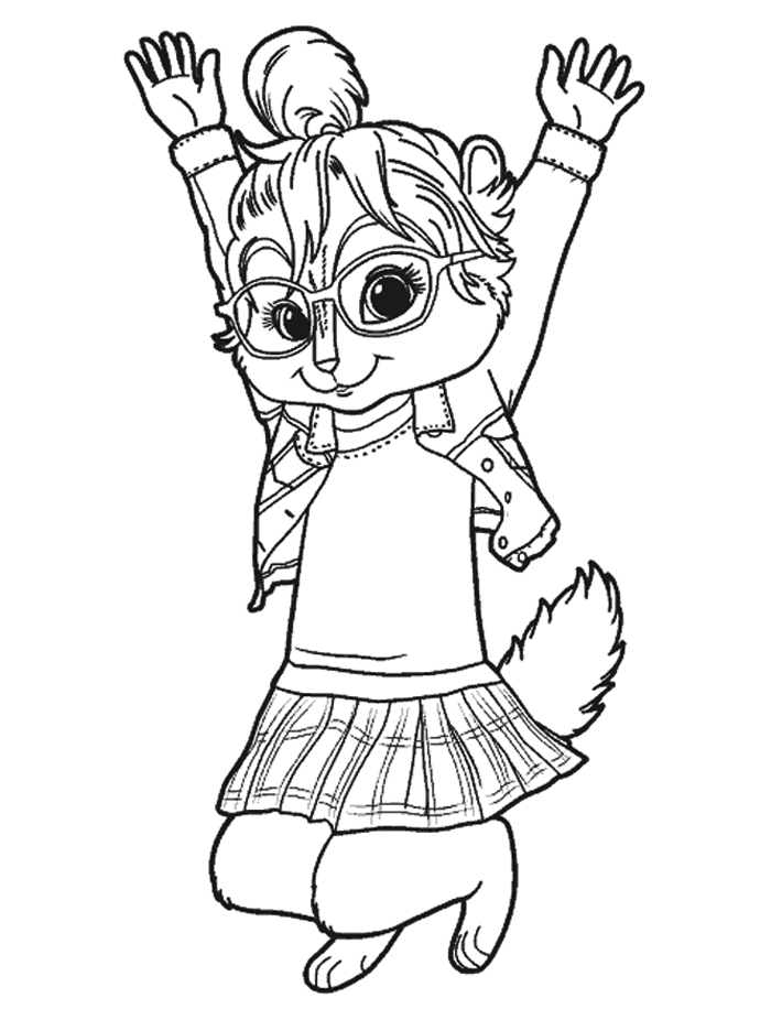 Alvin And The Chipmunks Who Are Jumping Coloring Pages For Kids Bcr Printable Alvin And The Chipmunks Coloring Pages For Kids Cizimler Sincap