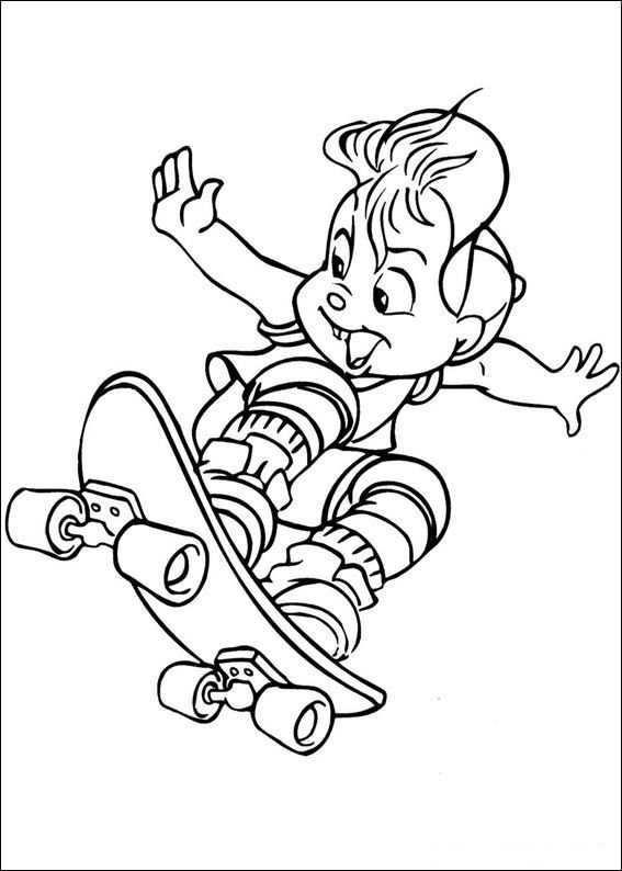 Kids N Fun Kleurplaat Alvin En De Chipmunks Alvin Kleurplaten Gratis Kleurplaten Kleurboek