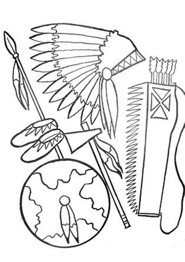 Kleurplaat Indianen 7465 Kleurplaten Kleurplaten Potlood Schetsen Schetsen
