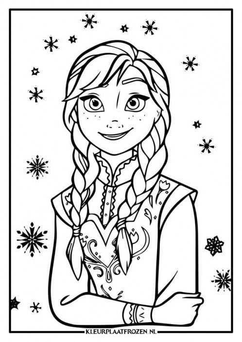 Anna Kleurplaat Frozen 4 Frozen Kleurplaten Prinses Kleurplaatjes Kleurboek