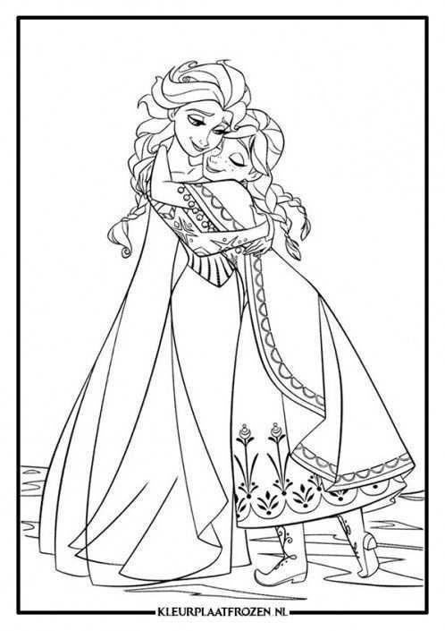 Anna En Elsa Kleurplaat Frozen Kleurplaten Gratis Kleurplaten Prinses Kleurplaatjes