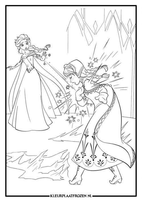 Frozen Kleurplaat Anna En Elsa Frozen Kleurplaten Prinses Kleurplaatjes Kerstkleurplaten