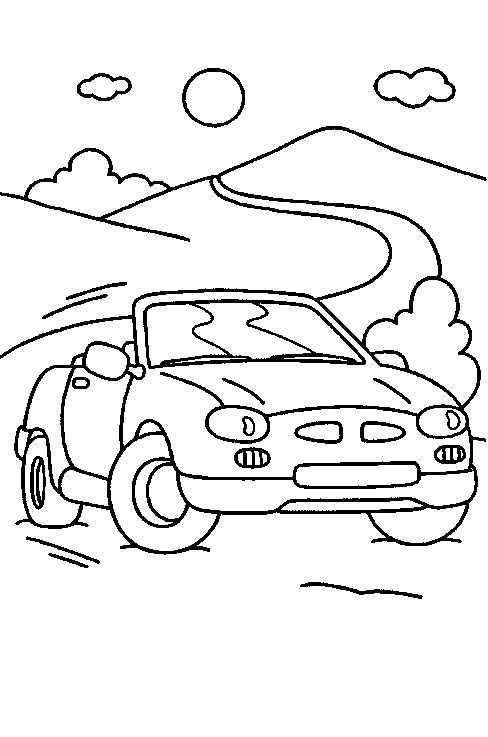 Kleurplaat Auto Cabrio Kleurplaten Kleurboek Auto