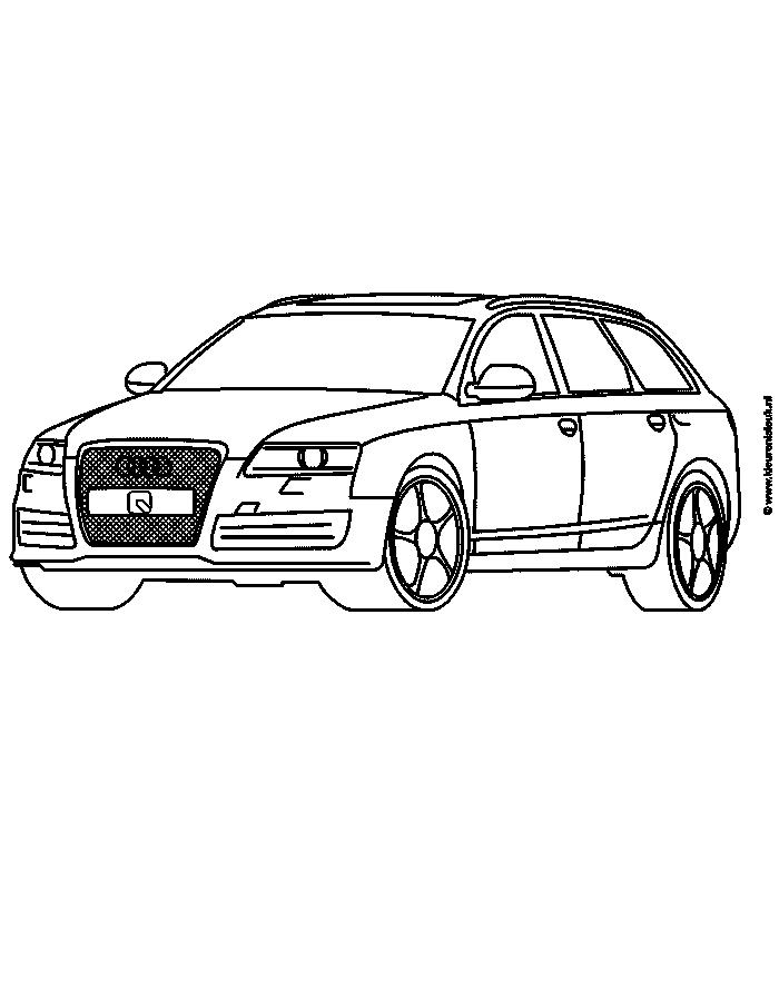 Audi Rs 6 Kleuren Is Leuk Kleurplaten Audi Leer Tekenen