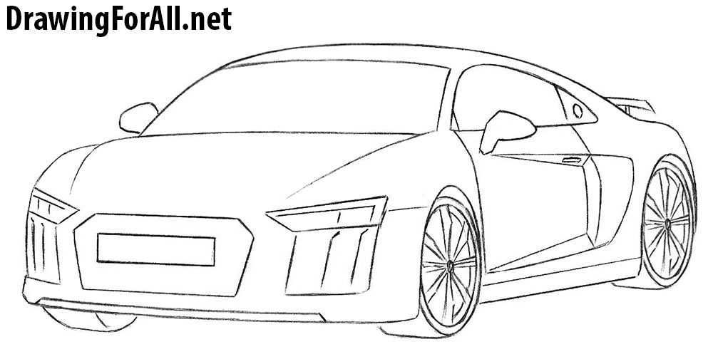 How To Draw An Audi R8 Audi R8 Audi Cool Car Drawings