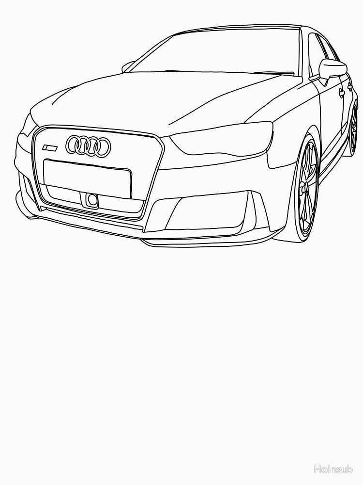 Audi Rs3 8v Outline Black Essential T Shirt By Holneub Auto Zeichnen Tattoos Zeichnen Zeichnen Ideen
