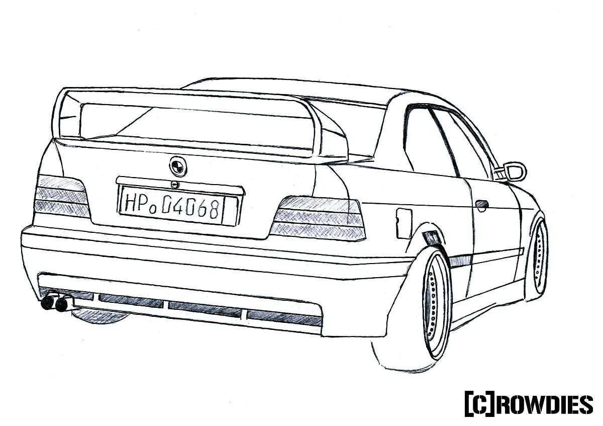 Drawing Zeichnung Car Drawings Cars Coloring Pages Cool Car Drawings