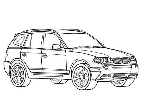 Bmw Ausmalbilder Auto Zeichnen Auto Zum Ausmalen Malvorlage Auto