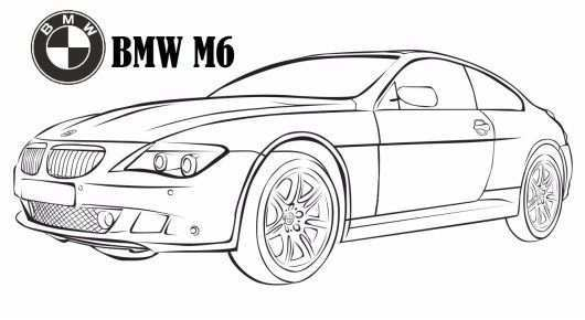 Bmw M6 Coloring Page Luxury Car Coloring Printable Sheet Cars Coloring Pages Bmw Coloring Pages