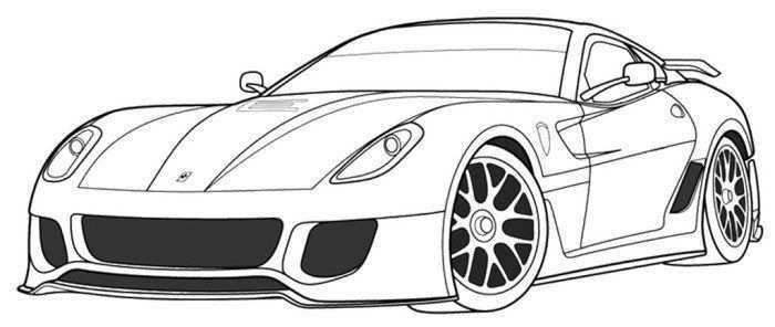 Kleurplaten Auto Ferrari