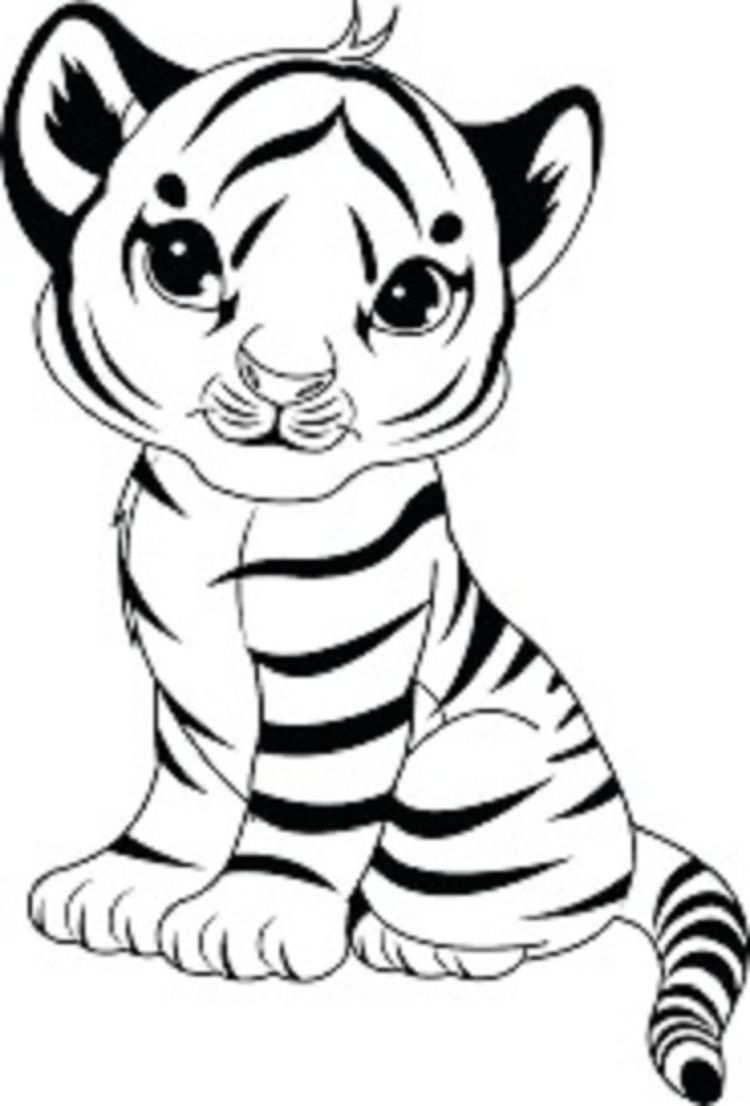Baby Tiger Coloring Pages Check More At Http Coloringareas Com 2625 Baby Tiger Coloring Pages Dierlijke Schilderijen Coole Tekeningen Baby Tijgers