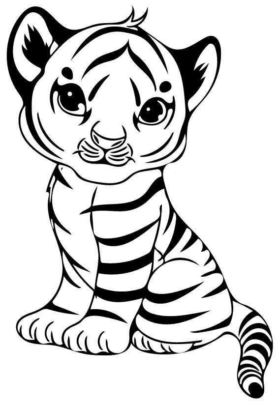 Pin By Ana Martinez On Dibujos Para Colorear Unicorn Coloring Pages Animal Coloring Pages Cartoon Tiger
