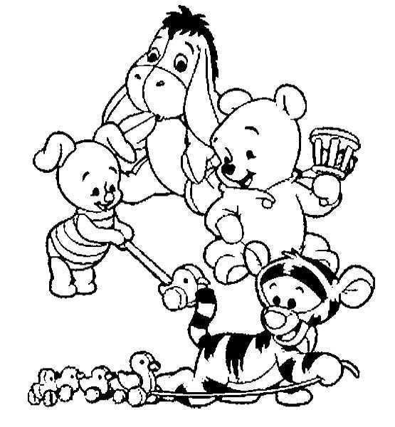 Baby Winnie The Pooh And Friends Coloring Pages Find Coloring Baby Coloring Pages Dis