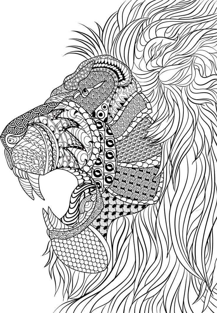 Pin Van Coloring Pages For Adults Op Coloring Dieren Kleurplaten Mandala Kleurplaten Kleurplaten